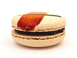 orange chocolate macaron